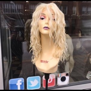 Accessories - Blonde curly wig sale chicago style 2019 lace wig